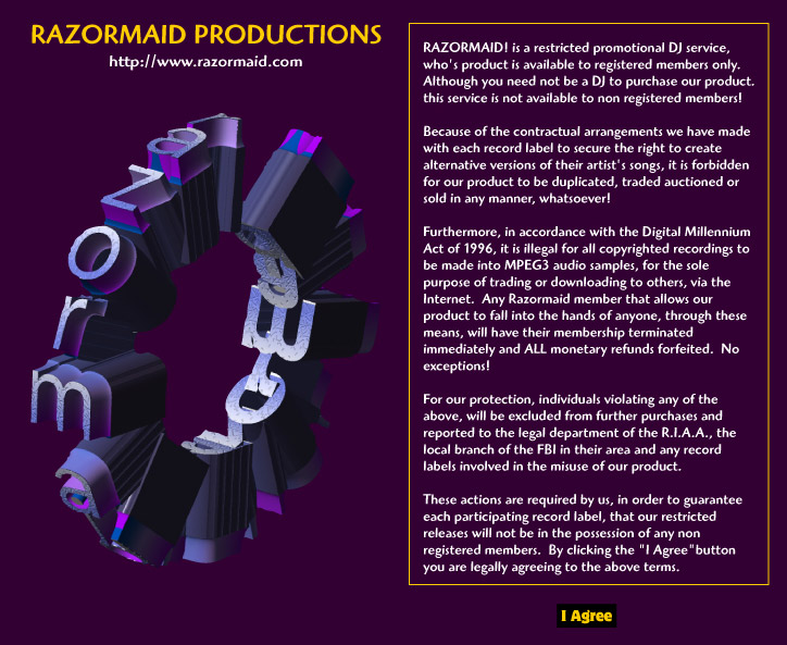 Razormaid! is a promotional service for disc jockeys only.